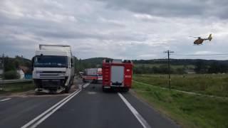 Wypadek w Tylawie. Start śmigłowca