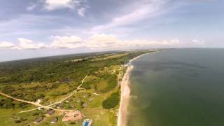 preview picture of video 'Akouango village Cap Santa Clara, Libreville, Gabon, with DJI Phantom 2.'