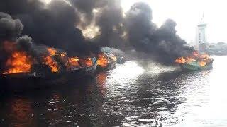 Insiden Kebakaran Terjadi di Pelabuhan Muara Baru, Tiga Kapal Nelayan Terbakar