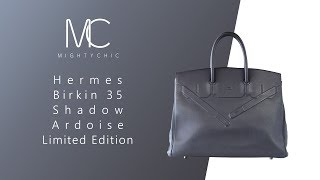428c7da39c31 MIGHTYCHIC • Hermes Birkin 35 Shadow Ardoise Limited Edition