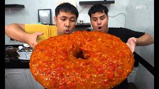 โดนัทยักษ์ เผ็ดที่สุดในโลกกก spicy giant donut