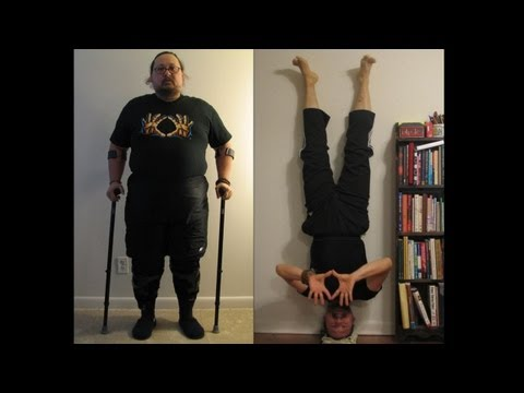Disabled veteran's transformation with DDP Yoga. From being barely able to walk without crutches to sprinting in only 6 months.