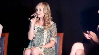 Candice Accola Singing Let It Shine At The Mystic Love Convention !
