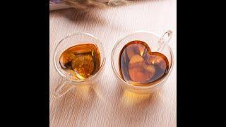 Heart Shaped Glass Cup Mug for Tea Coffee Wedding Gifts