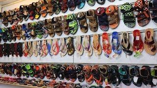घर बैठे ऑर्डर करे रु12 से चप्पल ! Wholesale Footwear Market In Delhi ! Inderlok Chappal Market