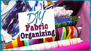 Orgnizing My Fabric Stash | DIY | Diving Head First