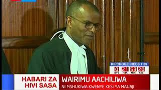 Sarah Wairimu aachiliwa kwa dhamana ya shilingi milioni 2.