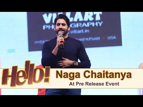 Samantha and Naga Chaitanya At Hello Pre Release Event