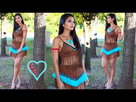 Disney Pocahontas 🎃 Maquillaje y Disfraz para Halloween 👸🏽 Bessy Dressy
