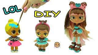 DIY Custom Painted Shopkins Shoppies Inspired LOL Surprise Baby Doll - Craft Video