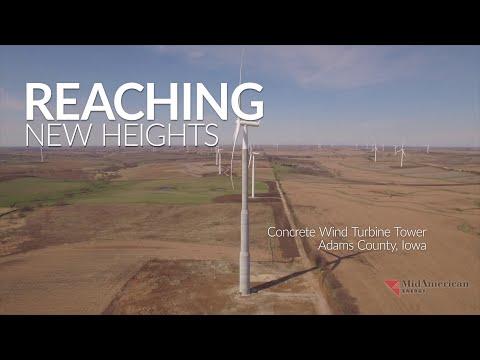 Betonowe maszty turbin wiatrowych - najwyższe w USA