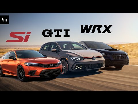 2022 Honda Civic Si vs VW GTI vs Subaru WRX - Which Is The Best New Affordable Sporty Daily?