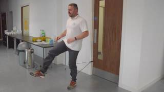 Resistance Band Door Exercises Using The Ankle Straps