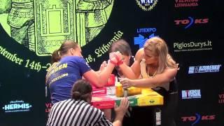 World Championships 2014 - Heidi Andersson Vs Olga Shlizhevskaya (Final Right Arm)