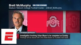 Urban Meyer investigation to finish Sunday; new Zach Smith report out | Paul Finebaum Show | ESPN - Video Youtube