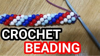 Bead Crochet Tutorial: How To  Make  A Crochet Beaded Rope | Crochet Beading Method #1