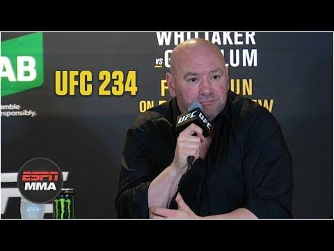 Dana White UFC 234 Post-Fight Press Conference | ESPN MMA