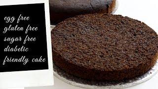 Diabetic Cake | Gluten Free | Egg Free | Sugar Free | No Egg Gluten Free Sugar Free Diabetic Cake