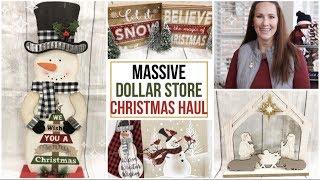 MASSIVE DOLLAR STORE CHRISTMAS HAUL   DOLLAR TREE HAUL   DOLLAR GENERAL HAUL