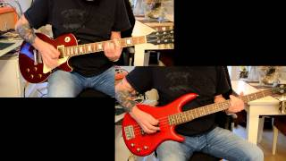ANTI-NOWHERE LEAGUE - So What (guitar & bass cover)
