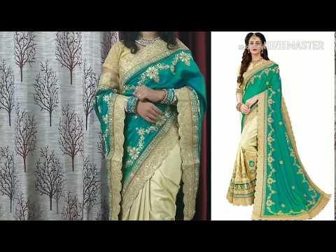 Amazon Embroidery Silk Saree review|half saree|Party saree|online saree shopping|online sari