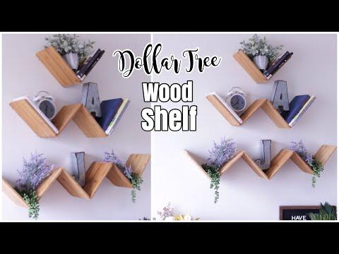 Dollar Tree DIY WOOD Floating Shelf | DIY Shelves