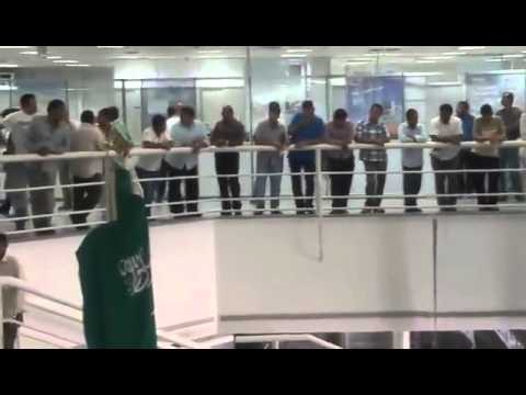 Employees protesting for non payment of salaries Al Salam Industrial & Trading Est