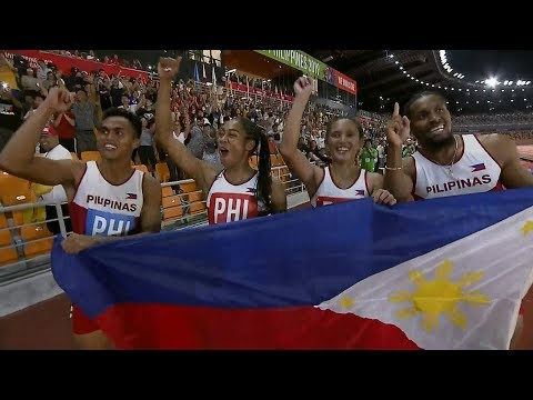 [Sport5]  Redemption for Eric Cray, PH team in mixed relay | 2019 SEA Games
