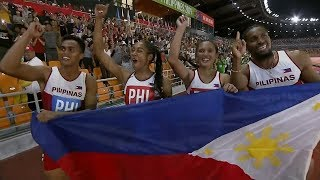 Redemption for Eric Cray, PH team in mixed relay | 2019 SEA Games
