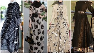 40+ Colorful Abaya Hijab Dresses Styles And Ideas