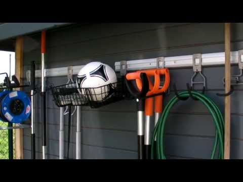 Geräteaufbewahrung Gartengeräte Aufbewahrung Hängeleiste Garagenregal Smartregal