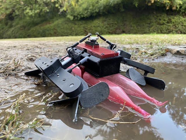 Робот-ящерица AmphiSTAR чрезвычайно ловко бегает по воде