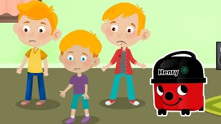 ANIMATED HENRY HOOVER STORY ~ The one where Henry the Hoover Joins the Family ~ Fun Video for Kids