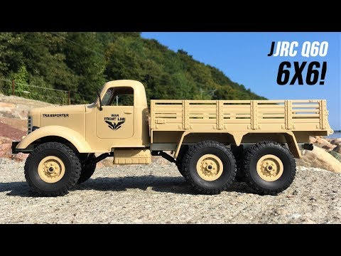 JJRC Q60 Transporter-1 Unboxing & First Run! NEW 6X6 1/16 RC Military Truck! Courtesy Of Geekbuying!