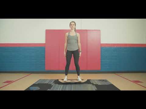 Balance Board Exercise | Balance Squat Beginner
