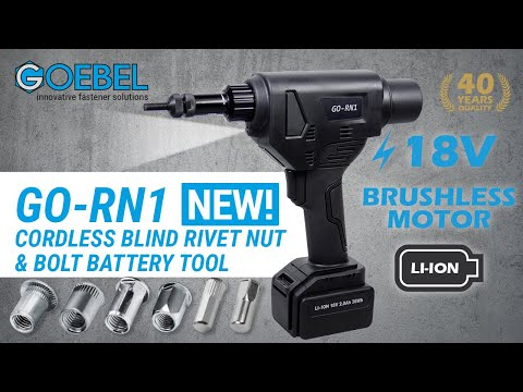 Cordless Nut Riveting Tool - AKKU GO-RN1