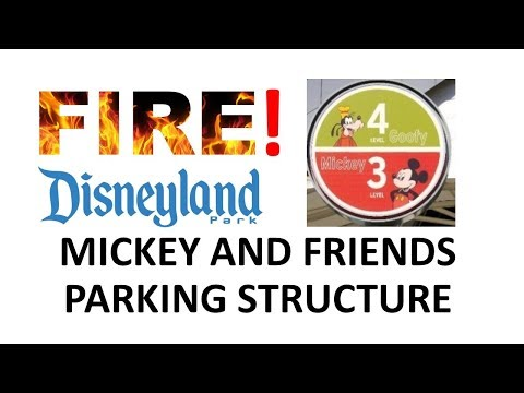 Disneyland - 2/13/17 FIRE At Mickey And Friends Parking Structure