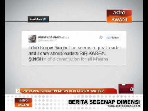 RIP Karpal Singh trending di laman Twitter