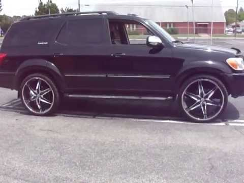 "RIMTYME HAMPTON 2007 Toyota Sequoia, 26"" Helo wheels in Lexani tires"