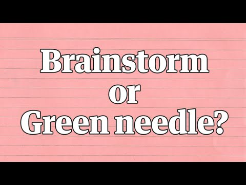 The new Yanny/Laurel: do you hear brainstorm or green needle?