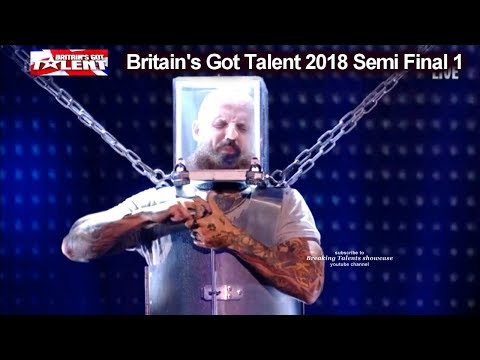 Matt Johnson BREATH TAKING ESCAPE  Britain's Got Talent 2018 Semi Final Group 1 BGT S12E08 (видео)