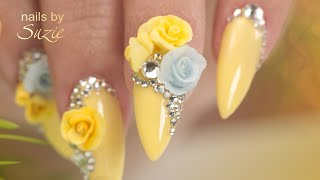 Spring Nails 3D Acrylic Flowers  - Complete Nail Build Tutorial - Prep to Top Coat