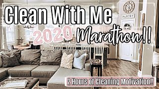 2020 CLEAN WITH ME MARATHON :: 2 HOURS OF INSANE SPEED CLEANING MOTIVATION + HOMEMAKING INSPIRATION