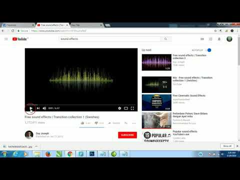 How To Download FREE Sound Effects From Youtube With