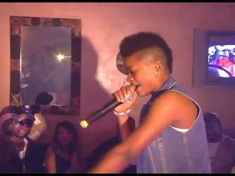 Tom-boy rapper stunned the crowd with freestyle