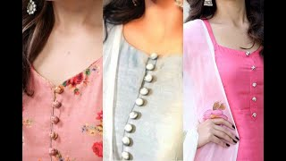 Latest Neck Designs With Buttons For Kurtis | Neck Designs | Punjabi Suits