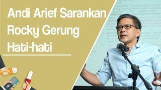 Andi Arief Sarankan Rocky Gerung Hati-hati usai Ratna Sarumpaet Dikabarkan Dianiaya