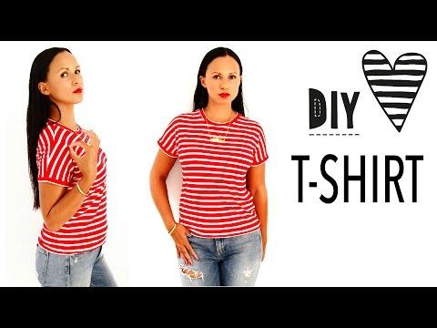 T-Shirt nähen ohne Schnittmuster / DIY MODE Nähanleitung