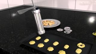 How to use biscuit maker / cookie press