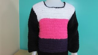Crochet Sweater For Toddlers Or Kids From 3 To 5 Years Old- With Ruby Stedman